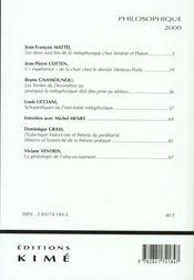 La métaphysique - 4ème de couverture - Format classique