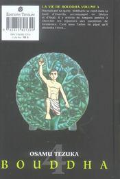La vie de Bouddha t.4 - 4ème de couverture - Format classique