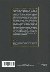 Louis Bachelier - 4ème de couverture - Format classique