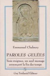 Paroles Gelees - Couverture - Format classique