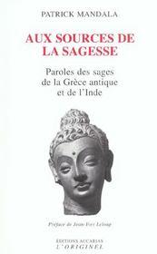 Aux Sources De La Sagesse - Intérieur - Format classique