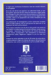 Financement de l'amenagement urbain guide juridique et pratique - 4ème de couverture - Format classique