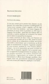 Fugue baroque - 4ème de couverture - Format classique