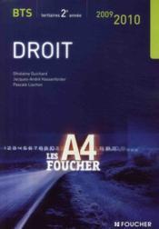 Droit ; Bts 2eme Annee (edition 2009/2010) - Couverture - Format classique