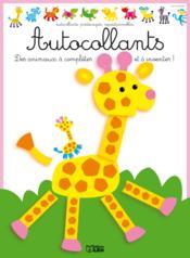 Autocollants des animaux, compléter et inventer : petite girafe - Couverture - Format classique