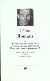 Romans t.4 ; féerie pour une autre fois t.1 ; féerie pour une autre fois t.2 ; entretiens avec le professeur Y - Intérieur - Format classique