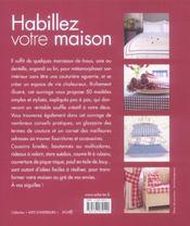 Habillez votre maison - 4ème de couverture - Format classique