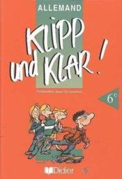 Klipp Und Klar 6e Lv1 Livre De L'Eleve - Couverture - Format classique