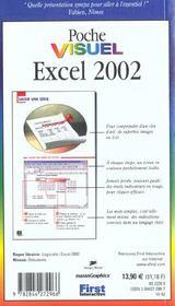 Poche visuel excel 2002 - 4ème de couverture - Format classique