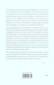 Osons La Paix - 4ème de couverture - Format classique