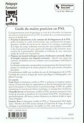 Le guide du maitre praticien en pnl - 4ème de couverture - Format classique
