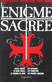 L'Enigme Sacree T1 - Intérieur - Format classique