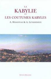 La Kabylie et les coutumes kabyles - Intérieur - Format classique