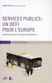 Services publics:un defi pour l'europe - Intérieur - Format classique