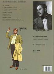 Blake et Mortimer T.7 ; l'énigme de l'atlantide - 4ème de couverture - Format classique