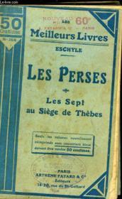Les Perses - Les Sept Au Siege De Thebes - Couverture - Format classique