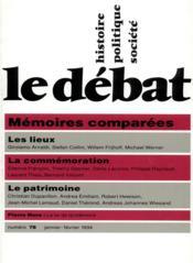 Revue Le Débat N.78 ; janvier-février 1994 - Couverture - Format classique
