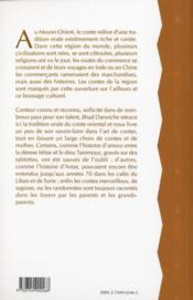 Le conte oriental - 4ème de couverture - Format classique