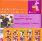 L'imagerie photos de mes annees de maternelle - 4ème de couverture - Format classique