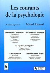 Les courants de la psychologie - Intérieur - Format classique