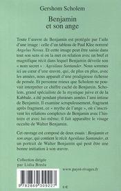 Benjamin Et Son Ange - 4ème de couverture - Format classique