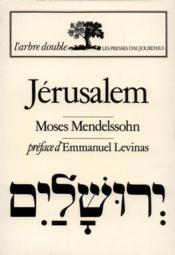 Jerusalem ou pouvoir religieux et judaisme - Couverture - Format classique