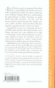 Jackie Kennedy - 4ème de couverture - Format classique