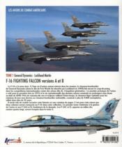 Les avions de combat américains t.1 ; F-16 fighting Falcon, versions A et B - 4ème de couverture - Format classique