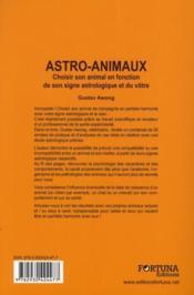 Astro animaux - 4ème de couverture - Format classique