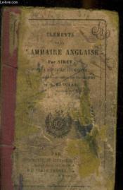 Elements De La Grammaire Anglaise - Couverture - Format classique