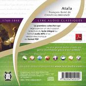 Atala - 4ème de couverture - Format classique