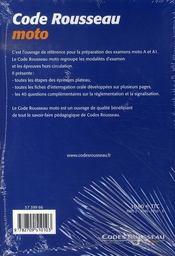 Code Moto (edition 2007) - 4ème de couverture - Format classique