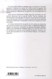 L'épreuve préprofessionnelle sur dossier à l'oral du capes externe d'espagnol - 4ème de couverture - Format classique