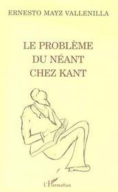 Le Probleme Du Neant Chez Kant - Intérieur - Format classique