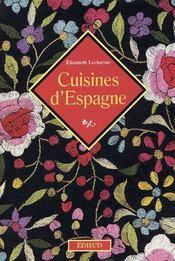 Cuisines d'Espagne - Couverture - Format classique