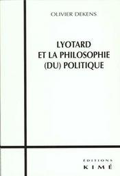 Lyotard et la pholosophie du politique - Intérieur - Format classique