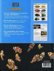 Encyclopédie visuelle de l'aquarium - 4ème de couverture - Format classique