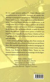 Signé Francis Blanche - 4ème de couverture - Format classique
