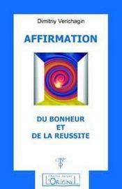 Affirmation Du Bonheur Et De La Reussite - Intérieur - Format classique
