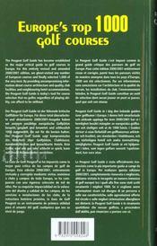 Peugeot golf guide 2000-2001 - 4ème de couverture - Format classique