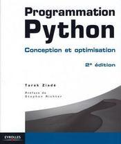 Programmation Python ; conception et optimisation (2e édition) - Couverture - Format classique
