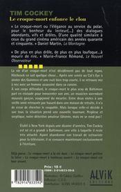 Le Croque-Mort Enfonce Le Clou - 4ème de couverture - Format classique