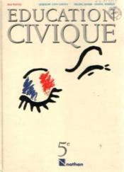 Education Civique 5e Eleve - Couverture - Format classique
