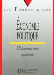 Economie Politique 3 Macroe Ouverte - Intérieur - Format classique
