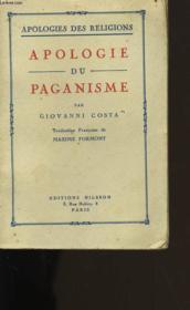 Apologie Du Paganisme. - Couverture - Format classique