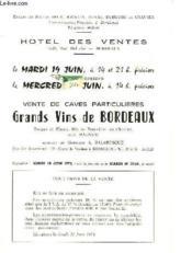 Ventes De Caves Particulieres - Grands Vins De Bordeaux 19 Juin 1973 - Couverture - Format classique