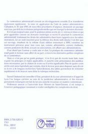 Pratique du contentieux administratif devant les tribunaux administratifs ; 3eme edition - 4ème de couverture - Format classique