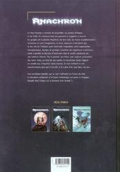 Anachron t.4 ; l'héritage du héros - 4ème de couverture - Format classique