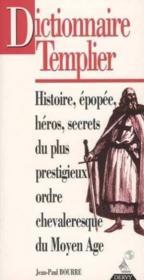 Dictionnaire Templier - Couverture - Format classique