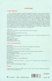 Revue methodos numero 2-2002 : l'esprit mind/geist - 4ème de couverture - Format classique